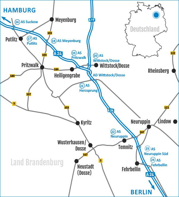 Die A 24-Region